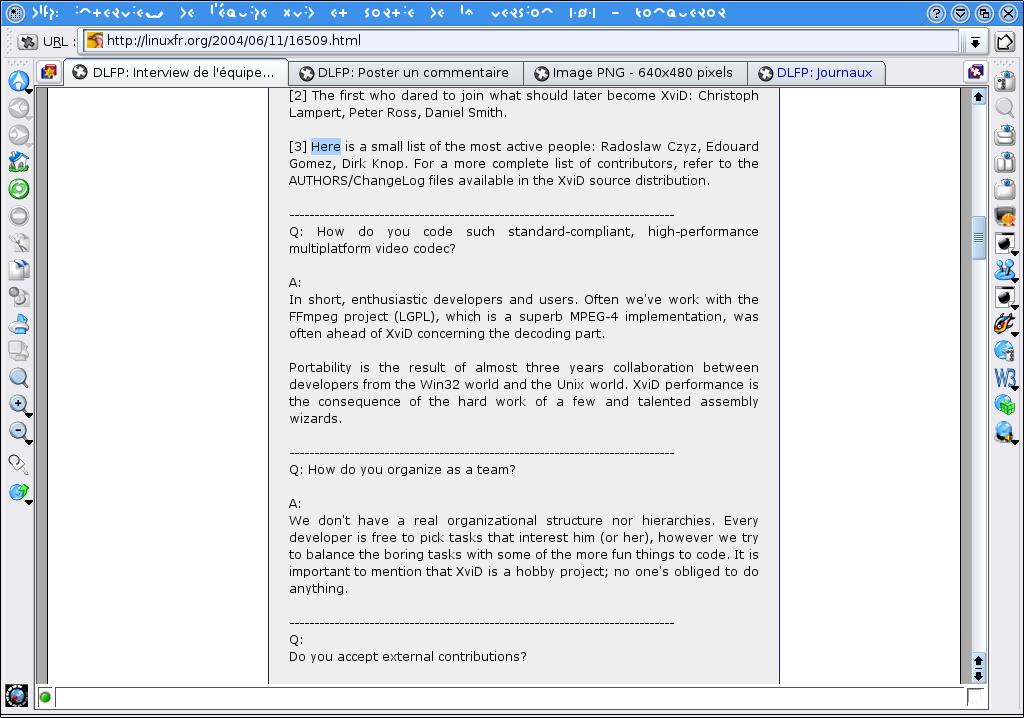 Interview de l'équipe XviD et sortie de la version 1 0 1 - LinuxFr org